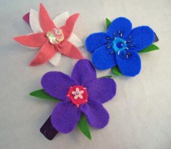 Blumenhaarspangen aus Filz
